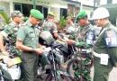 Denpom IV/04 Surakarta Periksa Kelengkapan Kendaraan Dinas Anggota Kodim 0723/ Klaten