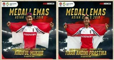 Khoiful dan Tiara Kawinkan Medali EmasNomor Downhill