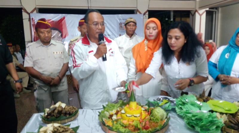 Potong Tumpeng, Relawan Rayakan Milad Prabowo ke 67 tahun di Lokananta