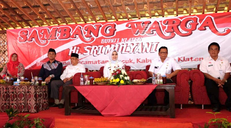 Sambang Warga, Bupati Klaten Hj Sri Mulyani Lakukan Dialog dan Serap Aspirasi Warga