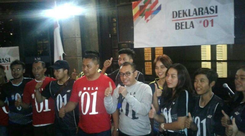 Ratusan Pemuda Malam Spontan Dukung Jokowi