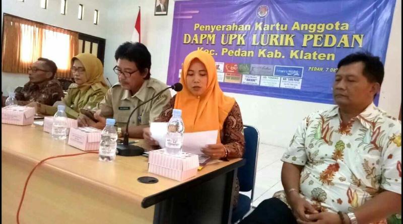 UPK Lurik Pedan Jadi Percontohan Peluncuran Kartu Anggota SPP